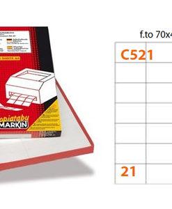 Etichette Markin C521