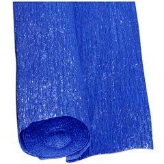 Carta crespa blu metallizzata