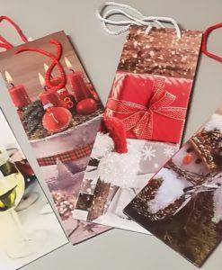Buste natalizie per bottiglie