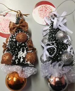 alberelli 12 cm da appendere natalizi