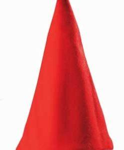 cappello babbo natale ottima buona qualità flanella 43cm